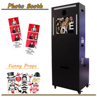 Chirstmas Rental Portable Photo Booth Machine/Kiosk with Backdrop