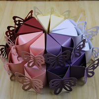 Butterfly Favor Candy Boxes Cake Style