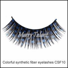 China False Eyelashes Manufacturer Fashion Color Individual Synthetic Hair False Eyelashes