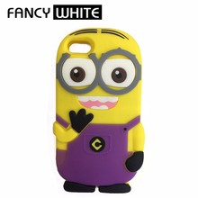 Unbreakable cute silicone yellow cartoon custom 3d phone case