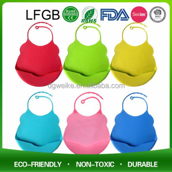 2018 New Design Silicone Bibs / Easy Washing Silicone Baby Bibs From Chinese Factory