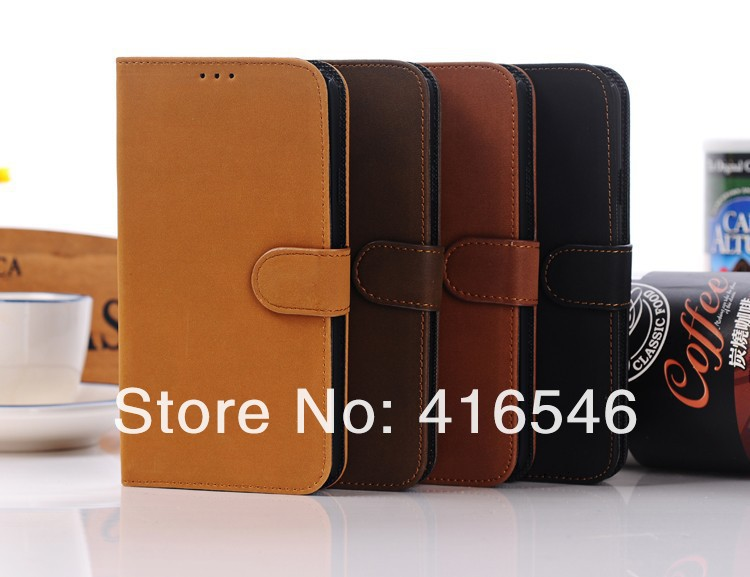 Retro Style PU Leather Stand Case with Card Slot For Samsung Galaxy Mega 5.8 i9150 i9152 Case