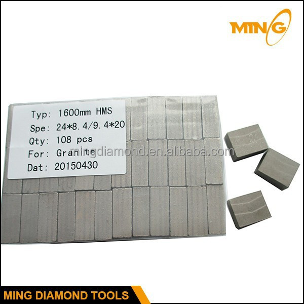 High Cutting Efficiency Granite Stone Cutting Tips Welded On Large Saw Blank 1600mm