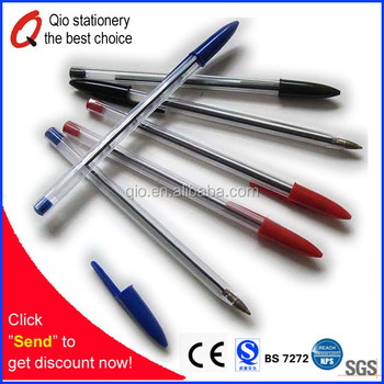 O/A 45days payment 2016 direct factory wholesale cheap ball pen plastic ballpoint bic pen for school office