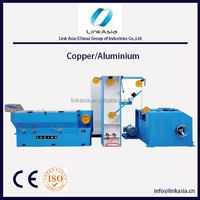 Inlet 2.6-3.0 Outlet 0.4-1.2 21 dies Copper wire /Aluminium Wire Drawing Machine