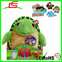 3 in one quick flip Reversible Plush Toy Turtle Dolphin Walrus Pop Out Pets Ocean