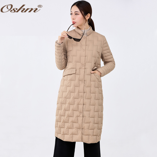 F2070 Hot selling <strong>adults</strong> 90% down 10% feather China winter long light weight women down coat