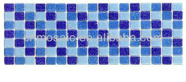 Blue mosaic pattern swimming pool border tiles designs
