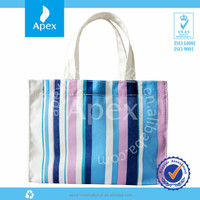 Colorful polyester folding shopping bag