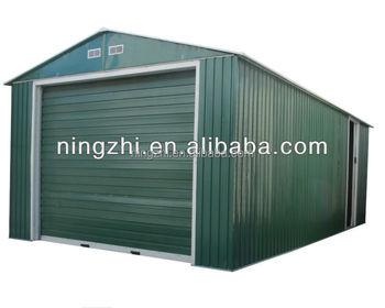 Color steel panel car garage with roller shutter door for Carport 6x9m