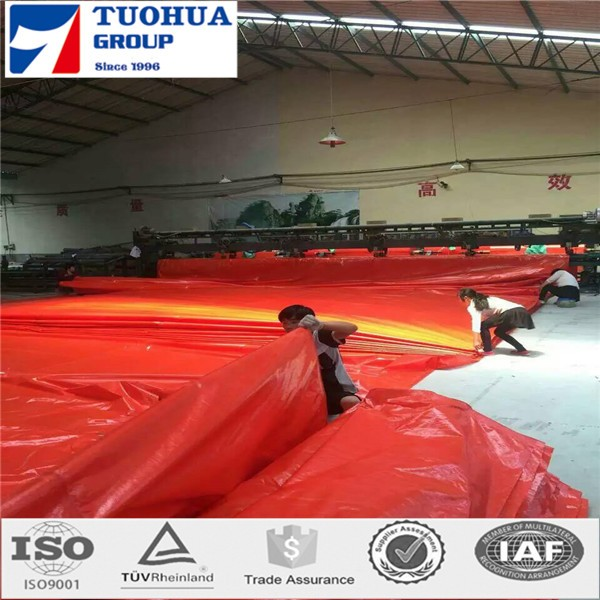reinforced grommets and black corner PE tarpaulin