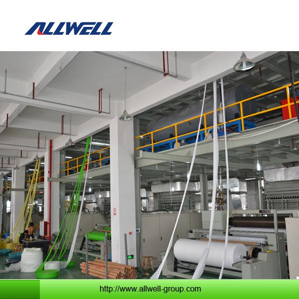 China pp spunbonded non woven fabric making machine pp spunbond nonwoven fabric production line