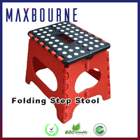 hotselling 11 inch portable supper strong plastic fold step stool for kids and adults