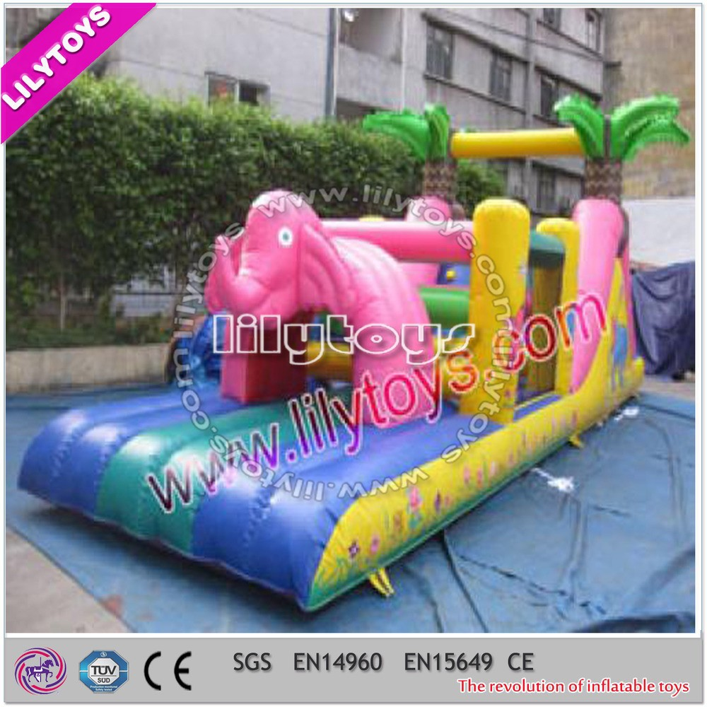 Lovely attrative design elephant children obstacle course equipment with SGS