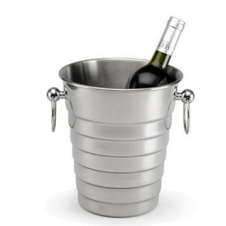 Popular Stainless Steel Champagne Bucket Wine Cooler ice bucket with competitive price