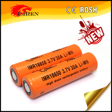 In Stock! IMREN 18650 3.7V 30A LiMn imr 18650 2100 mah ecig rechargeable battery with best safety