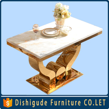 Hot new design stainless steel gold-plated dining table dining chair
