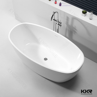 China Best price Acrylic solid surface portable shower tub