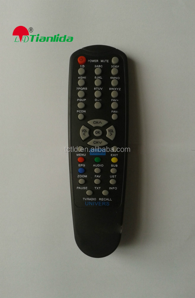 Custom tv codes radio receiver remote controller factory direct sales