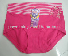2014 breathable thin beautiful style girls tight panties