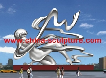 Outdoor Modern Abstract Stainless Steel Female Human Figure Nude Sculpture for Urban decoration