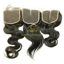 2016 Hotselling!!! Top Quality No Shedding No Tangle Natural Color 9A Peruvian Virgin Lace Closure Top Feeling Hair Products