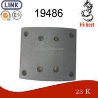 non asbestos material brake lining for truck / trailer / bus