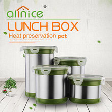 High quality stainless steel airtight storage pot/sealed stainless steel bottle/4 locked stainless steel sealed