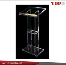 cheap custom factory OEM clear acrylic podium pulpit lectern/acrylic lectern