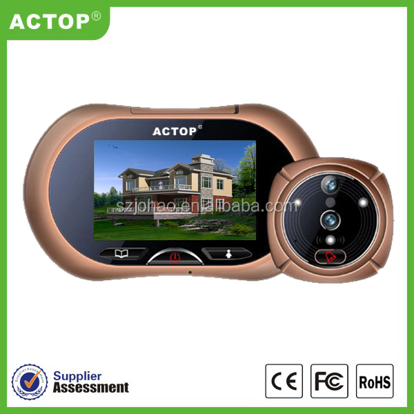 Home alarm system lcd monitor,wireless audio door phone,video message peephole intercom