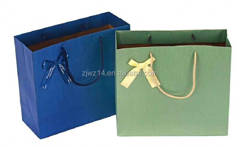 2015 fashion bleached kraft paper bags/ laminated eurotote paper bag/ matte paper bag