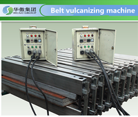 conveyor belt vulcanizing machine with belt repair materials