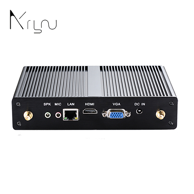 wholesale linux embedded slim N2810 mini pc 12v fanless computers