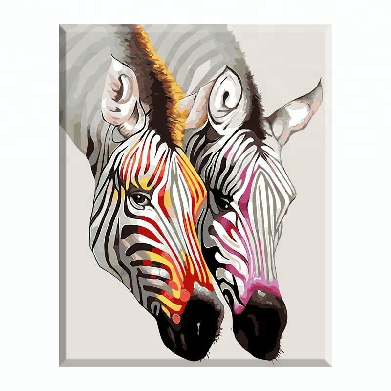 Minimalism white black zebra DIY oil painting <strong>art</strong> for hall decoration items