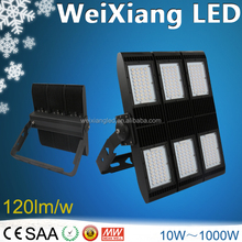 2017 All purpose 140LM/W WEIXIANG outdoor led stadium lighting 1000 watt led asymetric sport stadium lighting