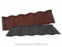 stone coated steel forring tile solar roof tile metal color manufacture from dongyue machinery