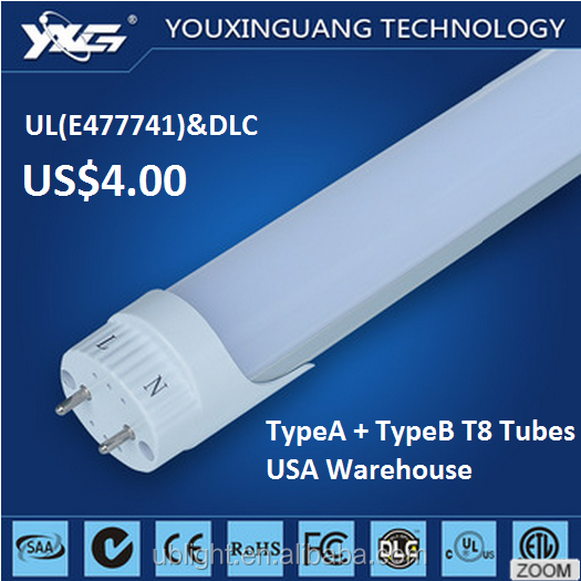 Latest Factory Direct Sale Price UL DLC Certificates japan tube hot jizz led tube light t8 18w TypeA+TypeB North American Market