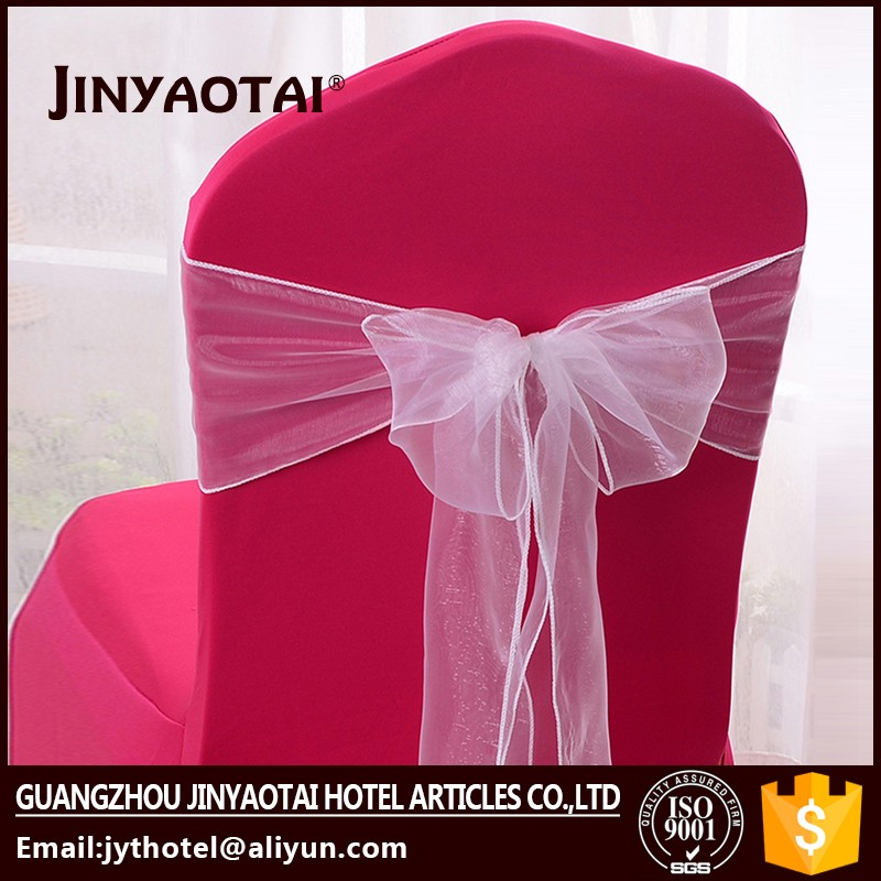 plain dyed hot sale 100% cotton wide lace chair covers sashes