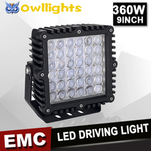 Auto Parts Top Quality CE 9Inch Led Work Light 180w 360w 4D Reflector LED Work Light Spotlight for Heavy Duty Machine