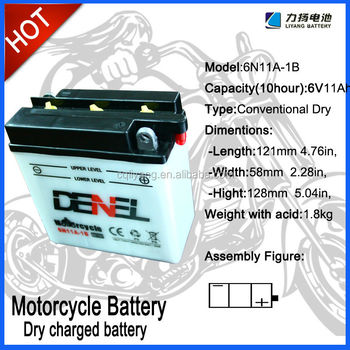6v11ah Motorcycle batteries High CCA and well starting performance Motorcycle Batteries