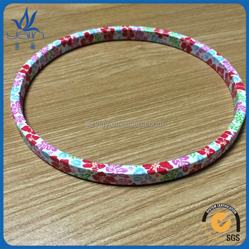 creative printed wood embroidery hoop for DIY cross stitch wood loop