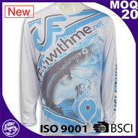 High Quality Long Sleeve 100 Polyester Sublimation T Shirts