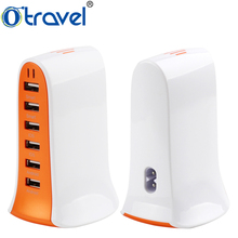 Otravel 2018 Mobile Phone accessories 6 USB multi port charging station portable universal travel charger