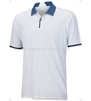 2016 fashion design Cool dry fit performance engineered bonded polo shirt white custom for golf best selling