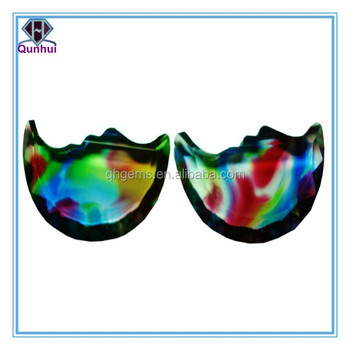 charming colorful glass any shaped cz