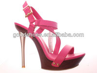 Pink ladies shoe high heel sandals fashion design