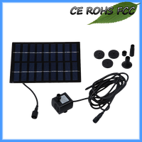 Solar pond water pump for a fountain