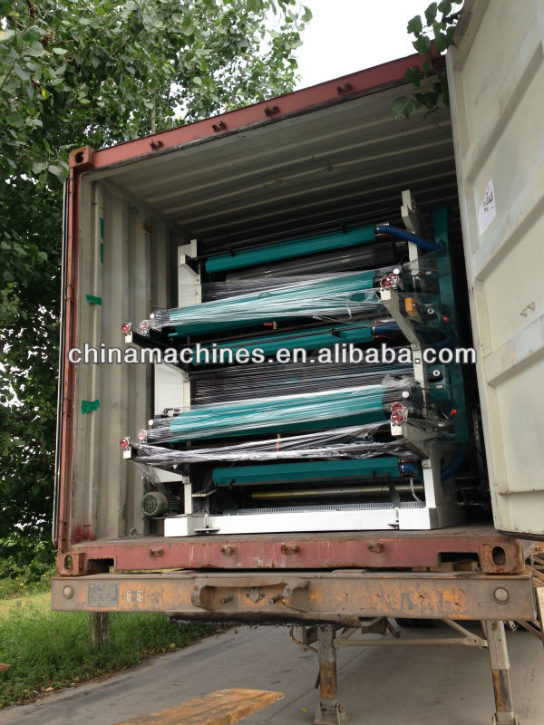 High Speed Multi-Color Plastic Film Flexo Printing Machine