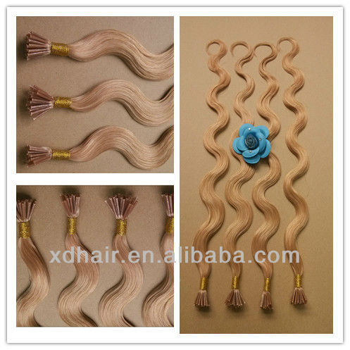 hair pieces for top of head virgin brazilian hair body weaving I-tip remy human hair extensions