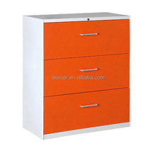 Orange bulk Extra wide metal lateral file cabinet